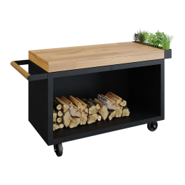 Mise en Place Table Black 135 PRO Teak Hout