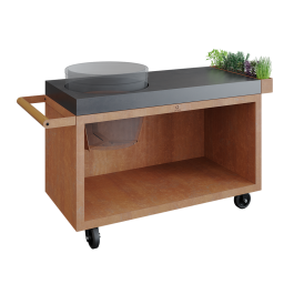 OFYR Kamado Table Corten 135 PRO Concrete BGE