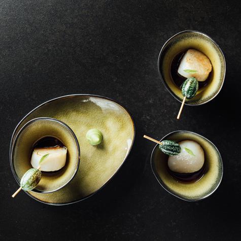 Kort gebakken coquille met Japanse sauce